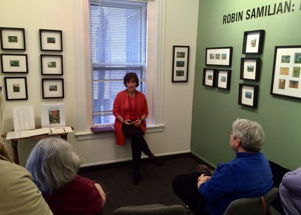 Artist talk at solo show <br><span> Copley Society of Art </span><br><span> </span>